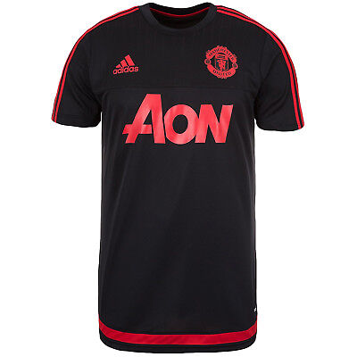 adidas Performance Mens Manchester United MUFC Football Training Shirt Black -M