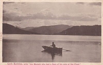 """Loch Katrine - """"with The Macnab Who Had A Boat Of His Own At The Flood"""" 1912"""