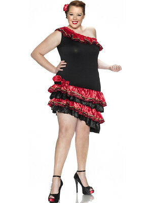 Womens Adult Sexy Caliente Spanish Dancer Plus Sized Costume
