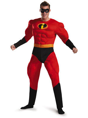 Adult's Mens The Incredibles Mr. Incredible Super Suit Deluxe Costume