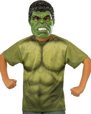 Child's Boys Marvel Universe Thor Ragnarok Hulk Costume Shirt And Mask
