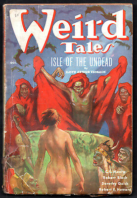 WEIRD TALES:Oct.1936:Robert E.Howard,Robert Bloch,Arthur Conan Doyle,C.L.Moore