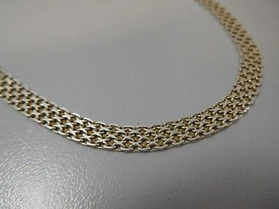 1673 || Verzauberndes Designer Glieder Collier Necklace 925 Silber Super Optik !