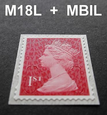 2018 1st Class M18L + MBIL MACHIN SINGLE STAMP from Business Sheets