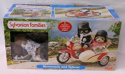 Sylvanian Families Motorcycle and Sidecar - Boxed + Extras (8601)