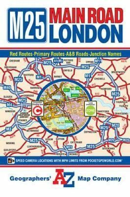 M25 Main Road Map of London by Geographers' A-Z Map Company 9781843487418