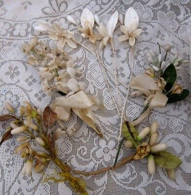 c.1910  French Wedding Waxed Flower Corsages