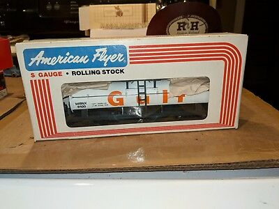 American Flyer S Gauge 4-9100 Gulf Oil Tank Car C-8 OB