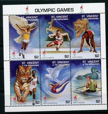 St. Vincent KB MiNr. 3193-98 postfrisch/ MNH Olympia (Oly1211