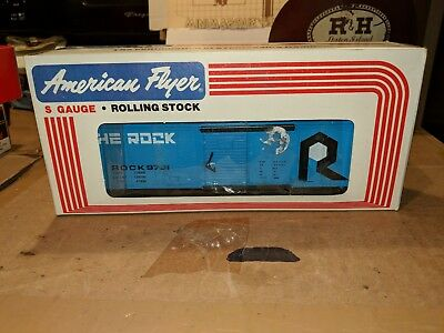 American Flyer S Gauge 4-9701 Rock Box Car C-9 OB