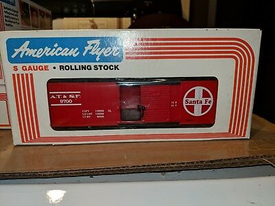 American Flyer S Gauge 4-9700 Santa Fe Box Car w/door nibs C-9 OB