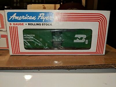 American Flyer S Gauge 6-48304 Burlington Northern Box Car C-9 OB