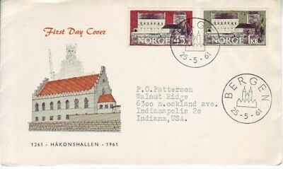 Norway - Events, Views, People, & Anniversaries (3no. FDC's) 1961-64