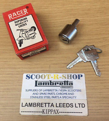 Lambretta  Steering  Lock & 2 Keys. Original Racer Nos .gp & Series 3 Chrome
