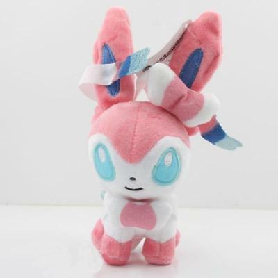 "Sylveon Pokemon Eevee 6"" 15CMPlush Soft Toy Stuffed Doll Cute Gifts"