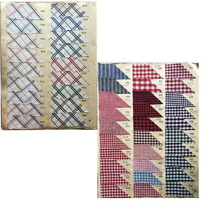 Collection of 19th C. Pages of French Cotton, Checks, Plaids, and Stripes (812)