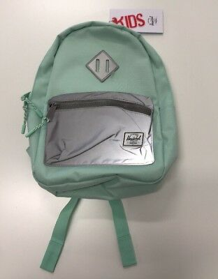 aae672b8335e HERSCHEL Heritage Backpack kids NEW with TAGS Yucca Reflective (Mint Green)   50