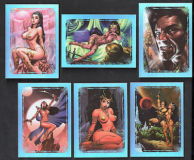 WARLORD OF MARS (Breygent) Complete MARTIAN MASTERPIECES FOIL Chase Card Set (6)