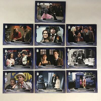 DOCTOR WHO (Topps/2015) Complete COMPANIONS Foil Chase Card Set 10 (#C1-#C10)