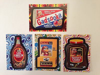8f2072b6e80 WACKY PACKAGES FLASHBACK SERIES 2 Topps 2008 Complete BONUS STICKER Card  Set (4)