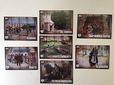 THE WALKING DEAD SEASON 5 (Topps/2016) Complete LOCATIONS Chase Card Set L1-L7