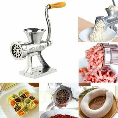 Manual Meat Grinder Mincer Pasta Maker Hand Operated Crank Tool for Kitchen USA