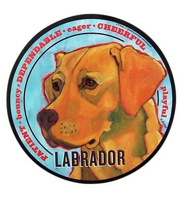 Mad Dogs Yellow Labrador Dog Magnet Decals for Cars, Office, or Refrigerator