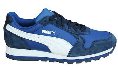 17983ce46b5 Puma ST Runner L Mens Trainers Running Shoes Low Lace Up Suede 356737 03 D16
