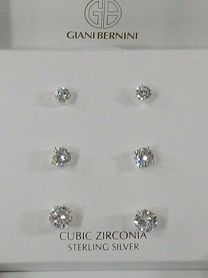475b01136 GIANI BERNINI CUBIC Zirconia Stud Earring Set in Sterling Silver ...