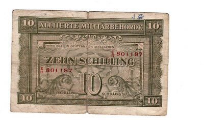 10 Schilling Fine Banknote From Allied Military Austria 1944!pick-106