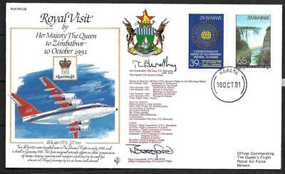 Zimbabwe, 1991 Royal Visit By The Queen, Illustrated Fdc. Scarce. No 13 Of 798
