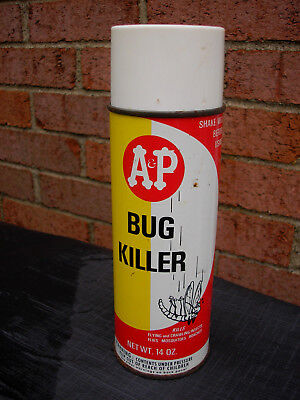 vintage A&P Bug Killer insecticide spray can - 1960's