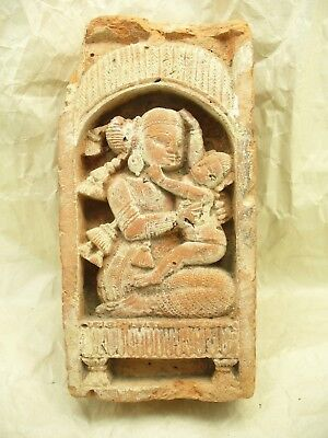 17th to 18th Century Terracotta Hindu Temple Tile from Bengal