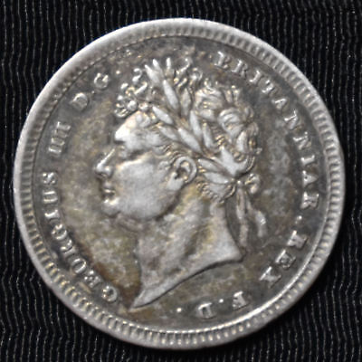 1829 Great Britain, George Iv Maundy 2 Pence, Km 684, Choice Very Fine
