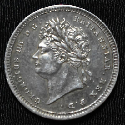 1822 Great Britain, George Iv Maundy 2 Pence, Km 684, About Uncirculated