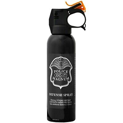 POLICE MAGNUM pepper spray 7oz ounce Fire Master w/ Nylon holster Home Security