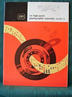 ATF High-Speed Photographic Typesetter Model B 1960s vintage advertising booklet