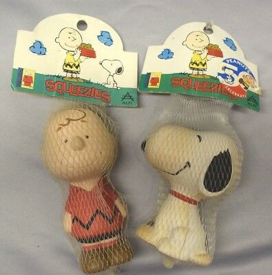Peanuts Charlie Brown & Snoopy Squeezies 1997 Toy New In Package
