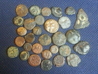 Lot Of 30 Bronze Ancient Roman Greek & Byzantine Coins Lower Grade