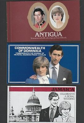3 MUH Booklets 1981 Royal Wedding Beautiful Stamps See photo & Description Below