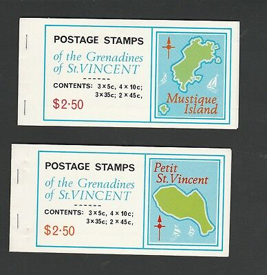 2 MUH Booklets from Grenadines of St. Vincent. See Photo & Description Below.
