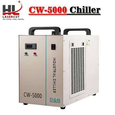 Industrial Water Chiller cool single 80W 100W CO2 Laser Tube CW-5000DG 220V 60HZ