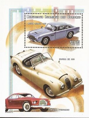 Comoro Islands - 1999 Autos - Stamp Souvenir Sheet MNH - Scott #935D