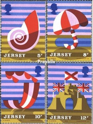 united kingdom-Jersey 119-122 (complete issue) used 1975 Touris