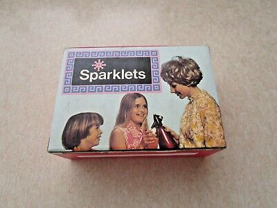 Vintage Retro 60s BOC SPARKLETS SODA SYPHON Bulbs OLD NEW STOCK BOXED - UNOPENED