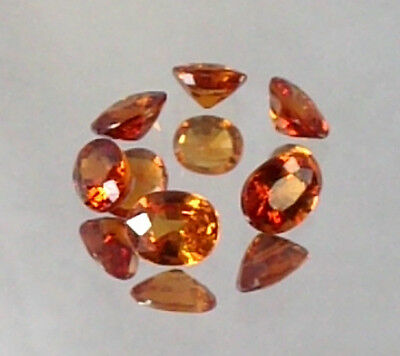 Extremly Clean Bright Lot 6 Pieces Of Pure Orange Spessartite Garnet 1.75 Cts