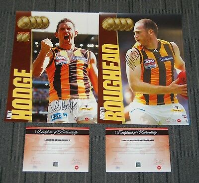 Hawthorn 2015 Afl Premiers Hodge Roughead Hand Signed Official Afl Limited Print