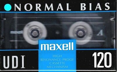 Maxell Udi 120 Normal Position Type I Blank Audio Cassette - Japan 1991