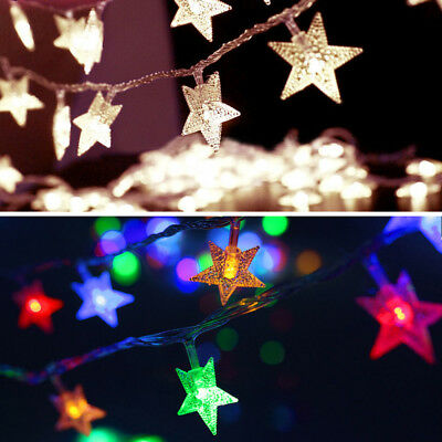 2M 20LED USB Five-Pointed Star Light String Strip Lamp Wedding Party Decoration