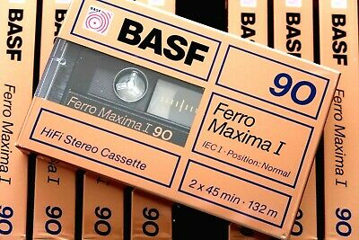 Basf Ferro Maxima I 90 Normal Position Type I Blank Audio Cassette Germany 1988